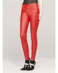 Givenchy Leather Skinny Pants - Lyst