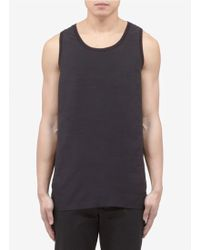 Neil Barrett Contrast Panel Tank Top - Lyst
