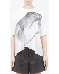 Prabal Gurung Wing-printed Silk T-shirt - Lyst