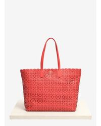 Tory Burch Kelsey Lasercut Leather Tote - Lyst