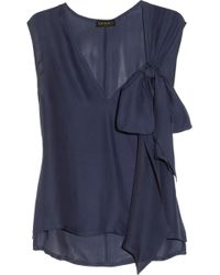 Vionnet Bow Embellished Silk Top - Lyst