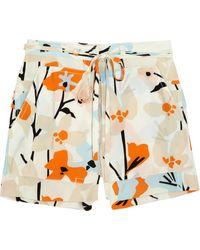 Diane von Furstenberg Jansen Printed Silk Shorts - Lyst