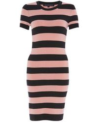 French Connection Fast Faline Stripe Dress - Lyst