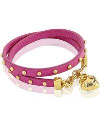 Juicy Couture - Double Wrap Stud Bracelet - Lyst