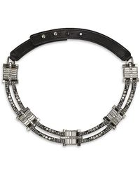 Lanvin - Crystal Collar Necklace - Lyst
