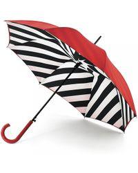 Lulu Guinness Diagonal Stripe Bloomsbury Umbrella - Lyst