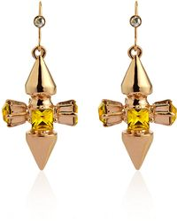 Mawi - Citrine Spike Drop Earrings - Lyst