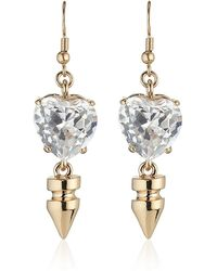 Mawi - Spike and Crystal Heart Earrings - Lyst