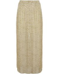 Michael by Michael Kors Zebra Print Pleated Maxi Skirt - Lyst