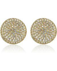 Michael Kors - Gold Pavã Stud Earrings - Lyst