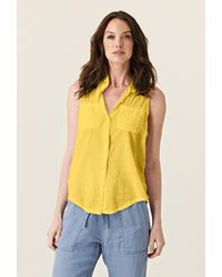 Michael Stars Collared Button Down Top - Lyst