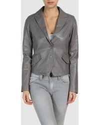 Calvin Klein Leather Outerwear - Lyst