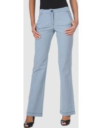Charlotte Ronson Denim Pants - Lyst