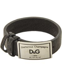 D&G Black Bracelets - Lyst