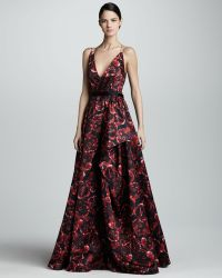 Jason Wu Printed Silk Ball Gown - Lyst