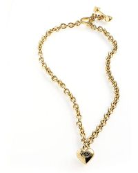 Juicy Couture - Medium Heart Necklace - Lyst