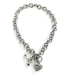 Juicy Couture - Pave Heart and Toggle Luxe Necklace - Lyst