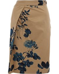 Vivienne Westwood Anglomania - Beige Justice Drape Floral Print Skirt - Lyst