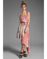 Blu Moon - Two Strap Asymmetrical Dress in Purple - Lyst