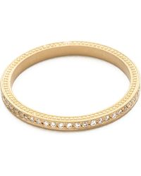 Jamie Wolf - Thin Pave Diamond Band - Gold - Lyst