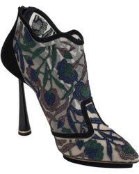 Nicholas Kirkwood Floralembroidered Ankle Bootie - Lyst