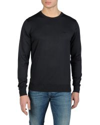 Armani Jeans Lightweight Crew Neck Sweater with Logo - Lyst