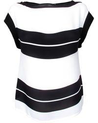 A.L.C. Black & White Stripe Chavelli Top - Lyst