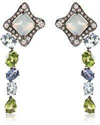 Antonini - Moonstone Earrings with Sapphires - Lyst