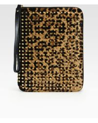 Christian Louboutin Studded Leopard Print Haircalf Cover For Ipad 1 2 and 3 - Lyst