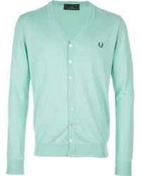 Fred Perry V-neck Cardigan - Lyst