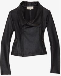 Georgie - Exclusive Perforated Faux Leather Moto Jacket - Lyst