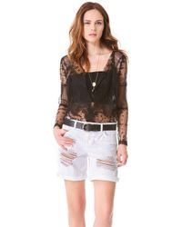 Haute Hippie Lace Topper Jacket - Lyst