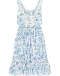Leaves Of Grass - Jamie Liberty-print Silk Dress - Lyst