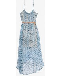 Twelfth Street Cynthia Vincent - Exclusive Belted Abstract Print Chiffon Hilo Dress - Lyst