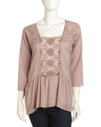 4 Love & Liberty - Amlie Tunic Blouse - Lyst