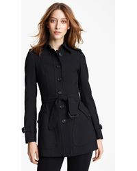 Burberry London Jersey Trench Coat - Lyst