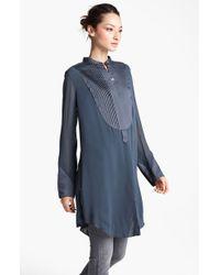 Donna Karan New York Collection Silk Georgette Tunic - Lyst