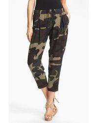 Haute Hippie Camo Print Drawstring Trousers - Lyst