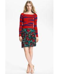 Kenzo Tiger Stripe Jacquard Sweater - Lyst