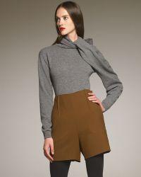 Lanvin Highwaist Shorts brown - Lyst