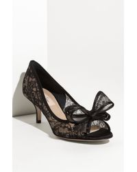 Valentino Lace Couture Bow Pump - Lyst