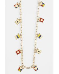 Tory Burch Ahoy Flag Long Station Necklace - Lyst