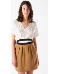 Maje Azerty Silk Dress - Lyst