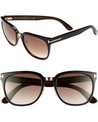 Tom Ford 'Rock' 55Mm Sunglasses - Shiny Black - Lyst