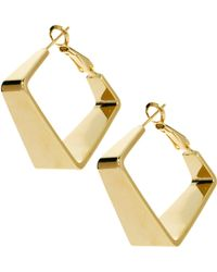 ASOS Collection | Limited Edition Square Hoop | Lyst