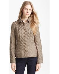 Burberry Brit 'Kencott' Patch Pocket Quilted Coat - Lyst
