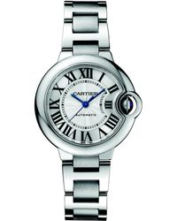 Cartier Stainless Steel Round Bracelet Watch - Lyst