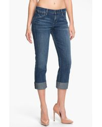 Citizens of Humanity Dani Crop Straight Leg Jeans Wedgewood - Lyst