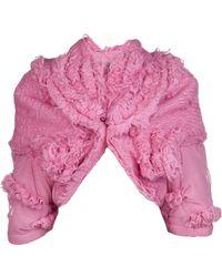 Comme des Garçons Wool Mohair Tulle Jacket - Lyst
