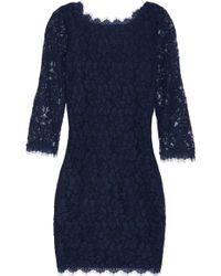 Diane von Furstenberg Zarita Lace Dress blue - Lyst